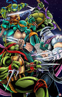 Teenage Mutant Ninja Turtles - Turtles vs Shredder by WiL-Woods