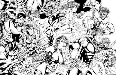 90's XMen Ink by WiL-Woods