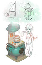 cute gas-stove by Mireys