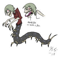 Lenore the centipede girl by The-Clockwork-Crow