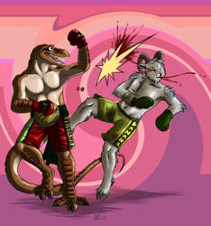 The Fight by GothWolf-Lucifur