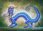 Blue eastern dragon by jiangzu