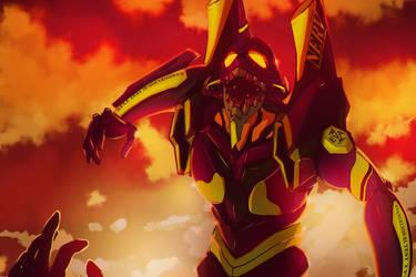 Evangelion - Unit 01, Berserk. by Hellrain