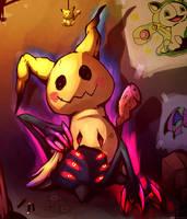 Mimikyu - Creepy Pikachu by Hellrain