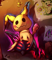 Mimikyu - Creepy Pikachu by Hellrain
