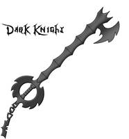 Dark Knight Keyblade by foreverdonovan