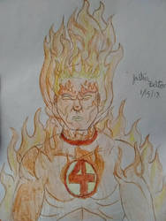 The Human Torch  by thecreaturehero