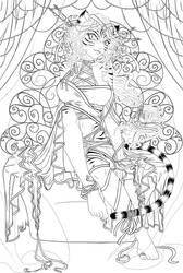 Empress line art by manic-goose