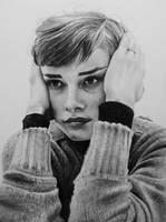 Audrey Hepburn by Selim-mileS 2 by Selim-mileS