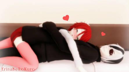 MMD | Napping Together | Jin x Izumi by ErinaNekoKuro