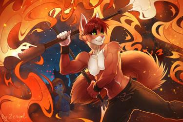 Inside the fire by Zengel