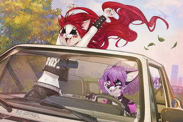 Driving to a concert by Zengel