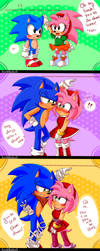 |SonAmy Art Trade| Ahah, you're short! by HimeMikal