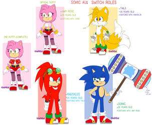 Sonic Au: Switch Roles References by HimeMikal