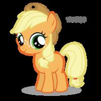 Applejack Filly by Blackm3sh