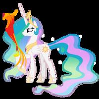 Princess Celestia ad Philomena by Blackm3sh