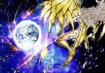 Saint Seiya - Gemini Saga in the space by Perladellanotte