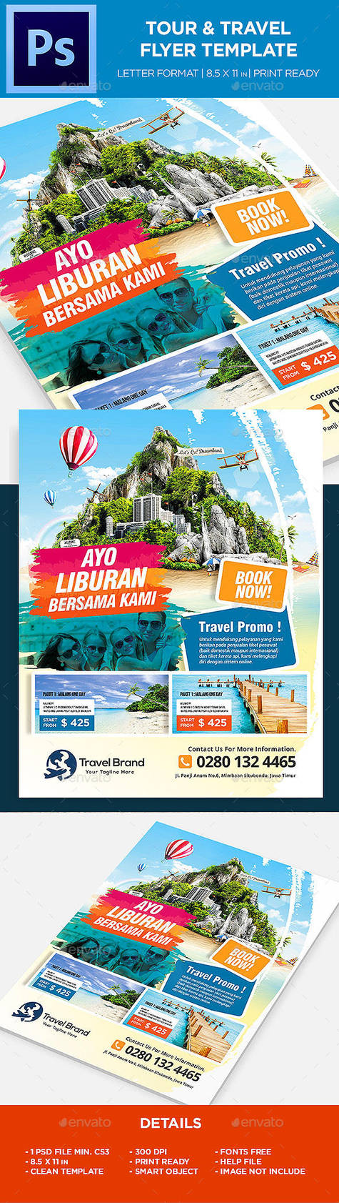 Travel Tours Flyer Template By Kijikai On Deviantart