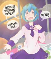 EARTH-CHAN IS NOT FLAT, right? by ziren37