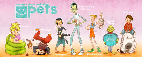 Monster Show and Tell: Pets by Jacksparrowsbabe