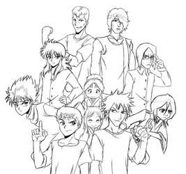 YuYuBleach Sketch by ThatsMyAlibi