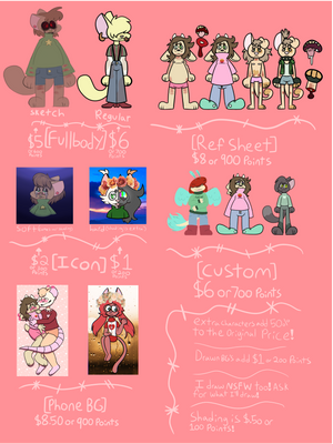 COMMISSION SHEET (OPEN!) by PickleKids