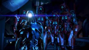 Legion and Geth Prime by Hallucinogenmushroom