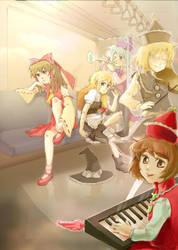 Touhou: train ride by strobolights