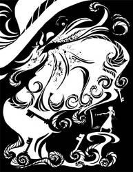 Bluebeard Silhouette - Title by kyuumu