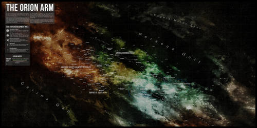 Map of the Orion Arm by DawnofVictory2289
