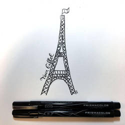 Eiffel Tour Doodle by akimboo