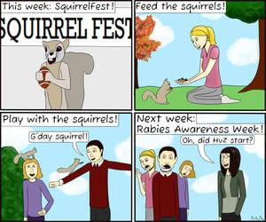 Squirrel Fest! by megpie0the0magpie