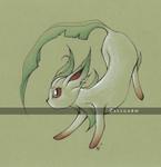 Leafeon / Phyllali - Pokemon by Zellgarm