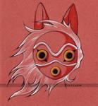 Mononoke's Mask - Princess Mononoke by Zellgarm