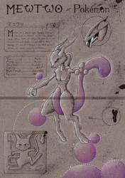 Mewtwo - Pokemon by Zellgarm