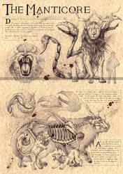THE MANTICORE - PERSIAN MYTHOLOGY by Zellgarm