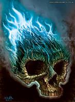 Flaming Skull by Bomu