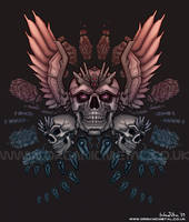 Mechanized Skull by Bomu