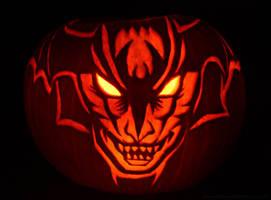 Devilman Pumpkin by Bomu