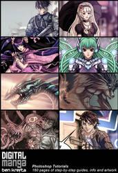 Digital Manga Book - Promo Poster by Bomu