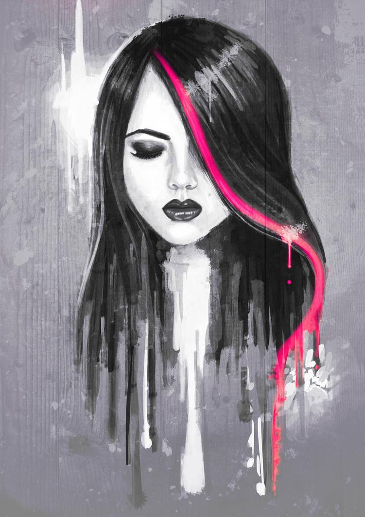 Girl Face by Bomu