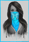 Masked Girl - Blue by Bomu