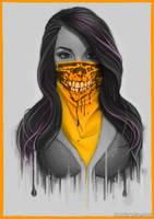 Masked Girl - Orange by Bomu