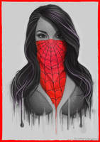 Masked Girl - Red by Bomu