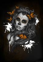 Sugar Skull Girl by Bomu