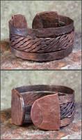 Hammered Copper Bracelet 01 by OrestesGraphics