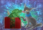 Reiy and Fungus for Detts Christmas 2016 by Elvishprincess25
