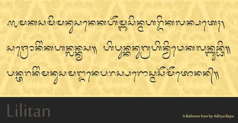 Balinese font: Lilitan by Alteaven