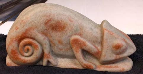 Alabaster Chameleon Front by macourtney