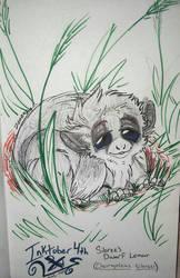 Inktober 4th- Sibree's Dwarf Lemur by Zahzumafoo